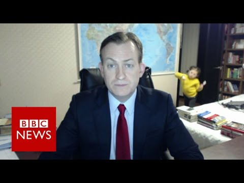 Children interrupt BBC News interview - BBC News