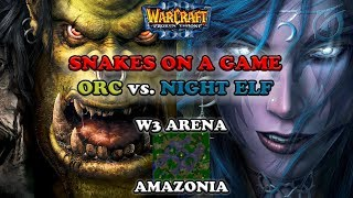 Grubby | Warcraft 3 The Frozen Throne | Orc v NE - Snakes on a Game - Amazonia