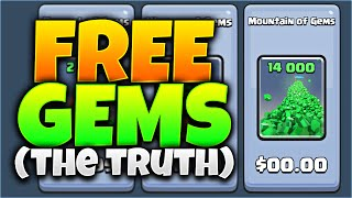 'FREE GEMS' IN Clash Royale!? THE TRUTH ABOUT FREE GEMS! (MUST WATCH!)