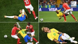 Neymar Roughed Up A lot While Swiss Holds On For Controversial Draw