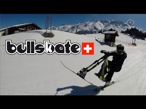 SNOWBIKING  SKIBIKING  with Bullskate