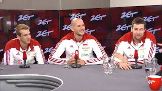 Mistrzowie Świata - Michał Kubiak, Bartek Kurek i Artur Szalpuk w wywiadzie dla Radia ZET #1