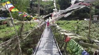 Hanging Bridge, Panbang, Bhutan
