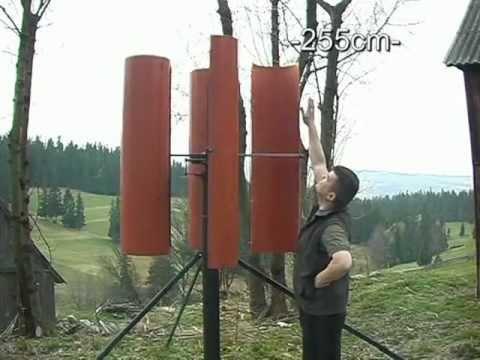 Wiatrak pionowy test 1 Wind Turbine PP4