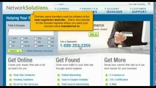 Transferring Domain Names Away From Networksolutions