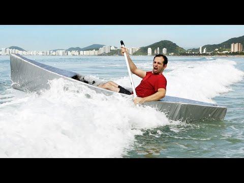 Como fazer uma canoa de silver tape que navega de verdade