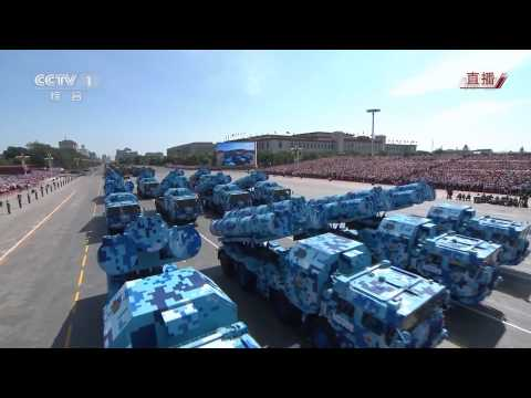 watch China Chinese army military parade equipment weapons armoured combat vehicles V Day Parade 3 Septemb