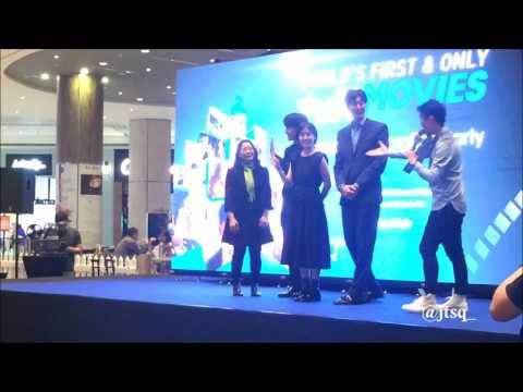170113 Yeo Jin Goo & Shim Eun Kyung @ tvNMovies launch celebration party