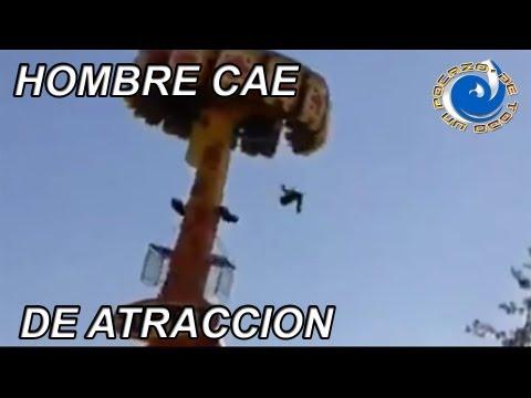 HOMBRE CAE DE ATRACCION EN PARQUE DE DIVERSIONES