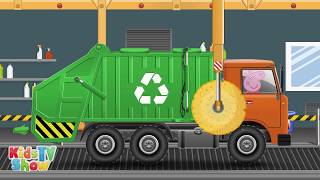 Peppa Pig Garbage Truck - Peppa Pig Cartoon - Kids TV Show