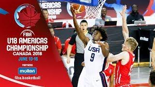 USA v Panama - Group Phase - Re-Live (ESP) - FIBA U18 Americas Championship 2018