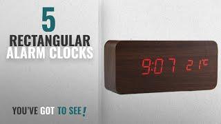 Top 10 Rectangular Alarm Clocks [2018 ]: Digital Clock, [Rectangular Wooden Series] Voice Sound