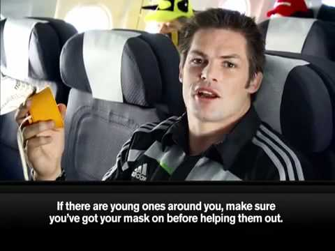 Air New Zealand   Crazy About Rugby   Safety Video