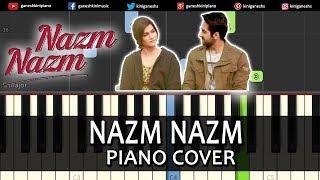 Nazm Nazm Song Bareilly Ki Barfi | Piano Tutorials Chords Instrumental Lesson Karaoke By Ganesh Kini