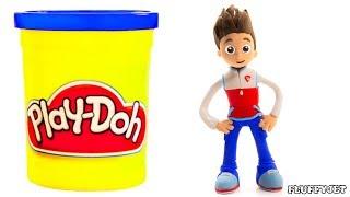 Paw Patrol Superhero Ryder Playtime - Play Doh Stop Motion Cartoons - Kids Animations