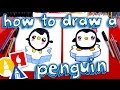 How To Draw A Cartoon Penguin