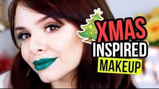 XMAS INSPIRED GREEN GLITTER LIPS MAKEUP TUTORIAL | #allyemXMAS