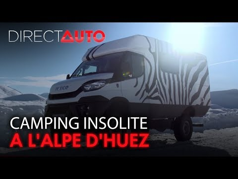 Pick Up 4x4 engin XXL Camping insolite à l Alpe d Huez