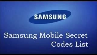 All Samsung Secret Codes List Mobile Phones Tricks