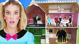 24 Hours inside a DOLLHOUSE Escape Room in Real Life! (Game Master vs Quadrant Battle Royale)