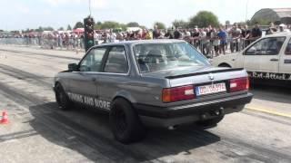 BMW E30 M3 TURBO vs Golf VR6 Turbo