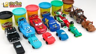 Learning Color Number with Special Disney Pixar Cars Lightning McQueen Playdoh for kids car toys