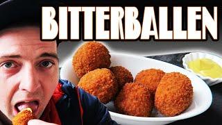 Bitterballen Utrecht food review, Dutch balls snack taste test, Winkel van Sinkel Netherlands