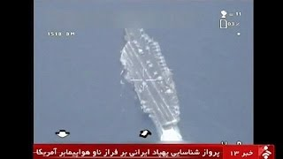 تائید پرواز پهباد ایران بر فراز ناو آمریکا در خلیج فارس