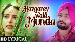 Hazaarey Wala Munda | Official Lyrical Video | Satinder Sartaaj | New Punjabi Songs 2016
