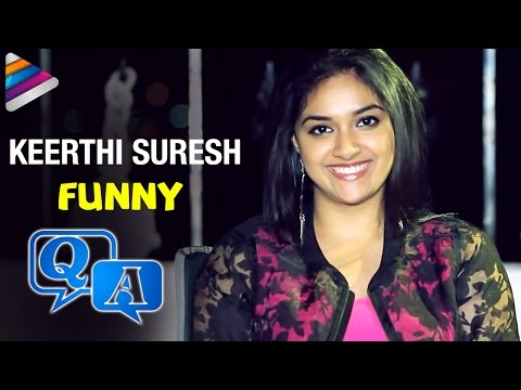 Keerthi Suresh Funny Q & A   Nenu Sailaja Telugu Movie Special   Celebrities Exclusive Interviews