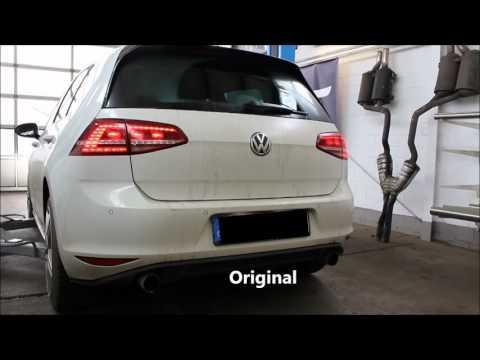 Underground Exhaust VW Golf 7 GTI Stage 3 Sound DSG Turbo
