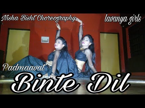 Binte Dil||Bollywood Song||Padmaavat||Belly Dance fusion ||India||||Nisha Bisht Choreography