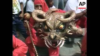 VENEZUELA: CARACAS: ANNUAL DANCING DEVILS OF YARE CELEBRATION