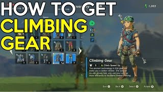 How to get the Climbing Gear Set - The Legend Of Zelda Breath Of The Wild