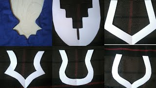 Neck Designs cutting and jointing for kameez,blouse,kurti.