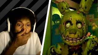 FIVE NIGHTS AT FREDDY'S 3 TRAILER LIVE REACTION. | Golden... Bunny?