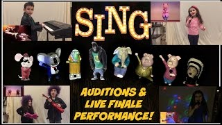 SING Movie Auditions & Live Finale Performance! Step inside Moon Theater to watch us Sing & Dance!
