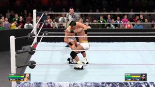 WWE Payback 2016 Cesaro vs The Miz ic championship epic match