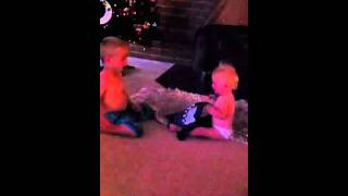 funny kid abusing sister