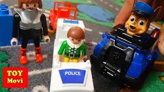 Kinderfilme Autos für Kinder, Polizei, Auto Film Spielzeugautos Playmobil Deutsch