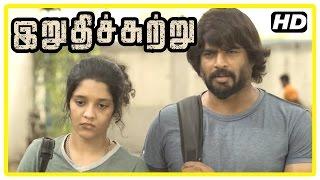 Irudhi Suttru Tamil Movie | Scenes | Madhavan rescues Ritika | Mumtaz angry at Ritika | Nasser