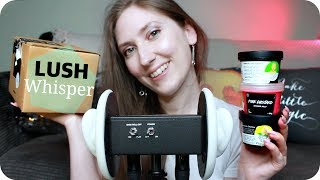 ASMR Ear to Ear Whispering 👂Lush Products Show & Tell Ramble, w/ a few Trigger Sounds 🛁 (3Dio)