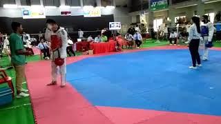 Abhimanyu v/s bharth 87+ taekwondo fight..