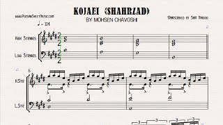 Kojaei-Shahrzad (Mohsen Chavoshi) Instrumental-Midi-Sheet Music