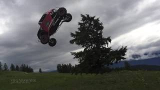 """Al Mcbeth""""s Huge Step Up Jump Crash on his Polaris RZR Turbo"""