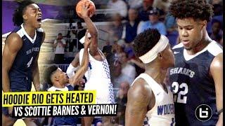 Hoodie Rio Backs Down From NO ONE!! GETS HEATED vs Duke Bound Vernon Carey & Ya Boy Scottie Barnes!!