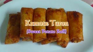 Kamote Turon (Sweet Potato Roll)