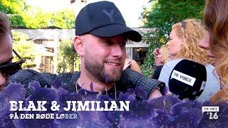 BLAK & Jimillian på den røde løber til The Voice '16