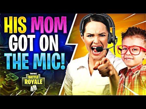 HIS MOM GOT ON THE MIC Fortnite Battle Royale