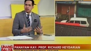 UB: Panayam kay Prof. Richard Herdarian, GMA resident political analyst